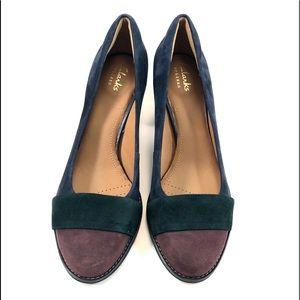 Clarks Shoes - Clark's  NWT 7.5 Tarah Brae Suede Pumps